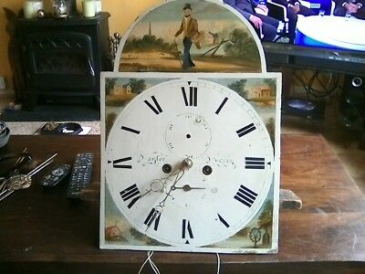c1800 8day grandfather clock movement as seen