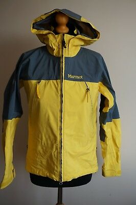 Marmot womens gore-tex XCR outdoor, hiking, jacket, yellow, size S/P