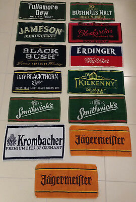 13 x Bar Towel Bar Tücher Whisky Bier Bushmills Kilkenny Glenfarclas etc.