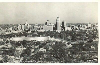 San Antonio Texas Skyline Real Photo Postcard