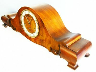 A Big Pure Art Deco Westminster Chiming Mantel Clock From Hermle Germany