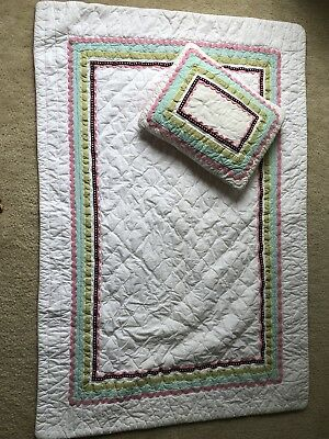 pottery barn kids Coco Dots baby quilt and pillow