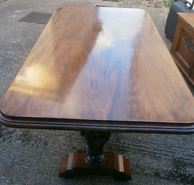Early 19th Century Centre Dining Table William IV Base and Similar age Top