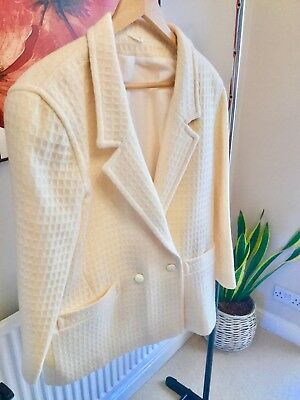 Vintage Stylish Pure New Wool With White Polyester Lining Superb Quality Size M