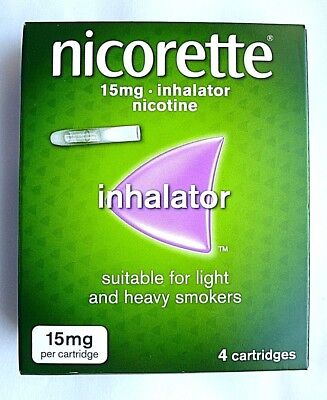 Nicorette Inhalator 15mg Nicotine - 4 Cartridges - 15mg Per Cartridge