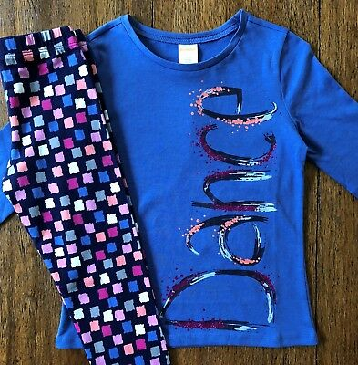 Gymboree Size 5 6 7 8 10 12 Outfit DANCE Top & Dot Leggings Blue Pink Girls New