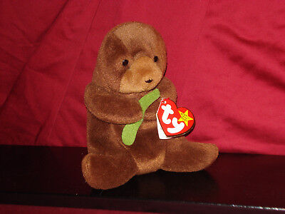 """""""Seaweed the Otter"""" - Rare Retired Beanie Baby with Multiple Errors - Mint!"""