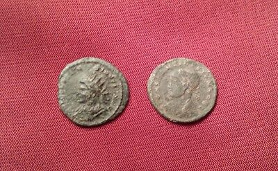 2 Authentic Roman bronze coins of Constantine II