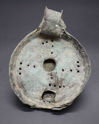 Rare ancient Roman bronze oil lamp with sw@stika design C. 2nd - 3rd century AD