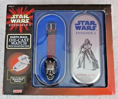 Star Wars Episode I Darth Maul Die-Cast Watch and Case