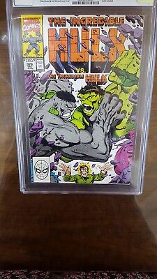 The Incrdible Hulk 376 Cgc White Pages Brand New From Cgc  9.6