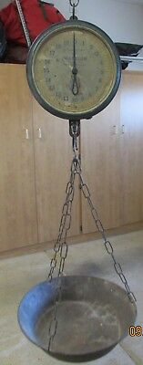 Antique New York Chatillon 40 Lb Hanging Produce Scale 33 Serial H