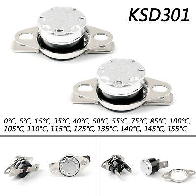 KSD301 0℃ to 155℃ Temperature Control Switch Thermostat 0-155 Celsius N.C.  DE