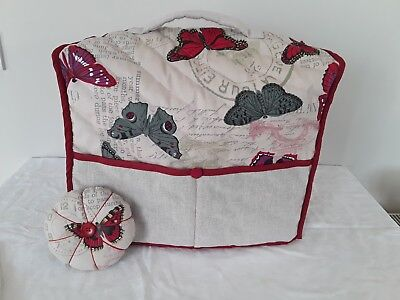 💟Handmade Fully Lined Sewing Machine Dust Cover & Matching Pin Cushion 💟