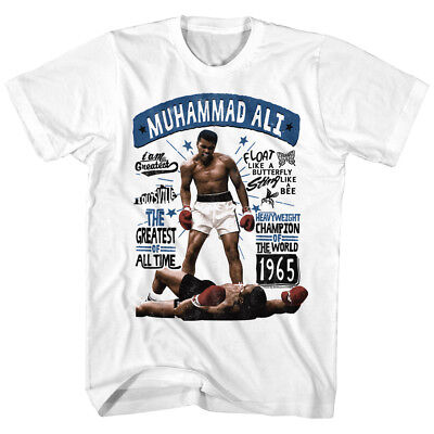 Muhammad Ali Quotes Float Like A Butterfly Mens T Shirt Boxing Greatest Champion