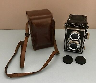 VTG Rollop Film Camera in Original Case with Enna Werk  f=7,5cm 1:3,5 lens