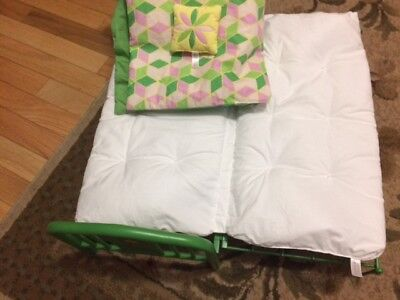 American Girl doll Kit Kittredge bed with bedding