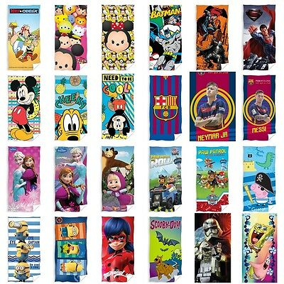 Disney Handtuch Paw Patrol Strandtuch Asterix Minions Peppa Superman Scooby Do