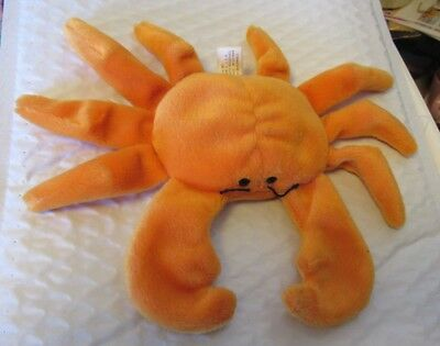 cd37b9705ac 1993 Authentic Ty Beanie BABY ORANGE DIGGER Crab 1st Generation tush tag  NICE!
