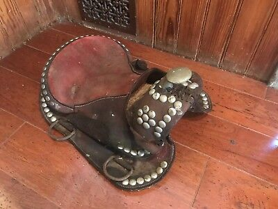 Antique Vintage Childs Horse Saddle Salesman Sample? Western Cowboy Decor