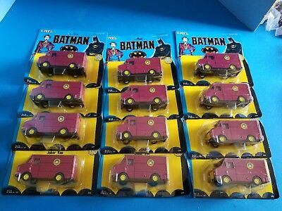 Vintage 1989 1:48 ERTL Batman Joker Van DC Comics Full Case of 12 Original Box