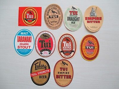 NEW ZEALAND - (136 von 250) -MANGATAINOKA - TUI BREWERY LTD - 10 diff.labels