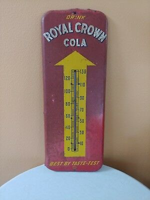 Vintage Royal Crown RC Cola Thermometer Advertising Sign 512 Donasco 1 - 52 1952
