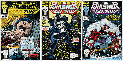 THE PUNISHER WAR ZONE #9 #10 #11 - 1992 1993 - CGC Ready! - 9.6 OR BETTER