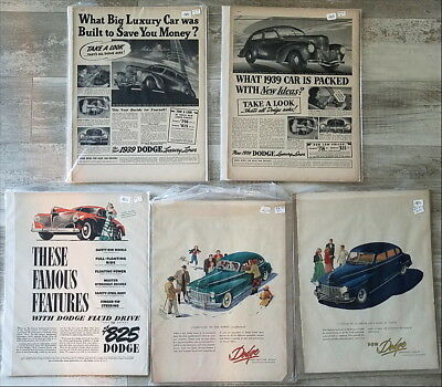 Lot of over 100 large Dodge Car Ads  1930s 1940s 1950s 1960s