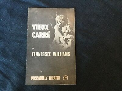 Tennessee Williams Vieux Carré programme Piccadilly Theatre Sylvia Miles