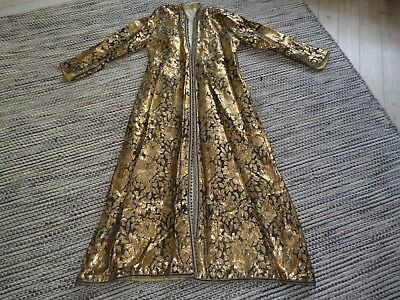 Vintage Antique Gold Thread Kaftan Gown Turkish? Ottoman Full Length Coat