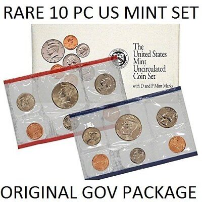 1992 US 10 Coin Brilliant Uncirculated Mint Set in Original Government Package