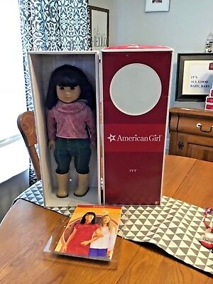 American Girl Doll Brand Nib Ivy With Book Retired Archived