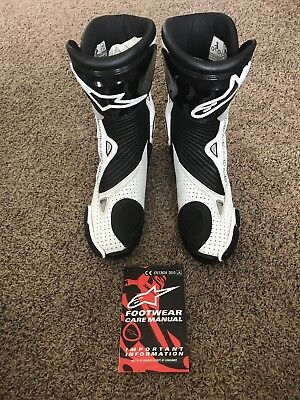 Alpinestars S-MX Plus Vented Men's Leather Street Motorcycle Boots - Size 44