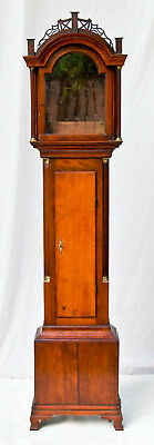 American cherrywood fret top grandfather clock case only @ 1800 Daniel Burnap?