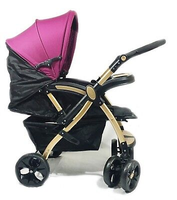 Baby Pram Pushchair Stroller Buggy Travel System Infant Kids Adjustable Seat New