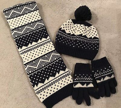 Kids M&S Hat, Scarf & Gloves Age 3-6 Years