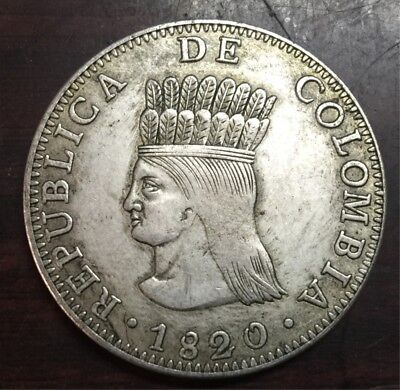 1820 Colombia 8 Reales Coin Best Gift