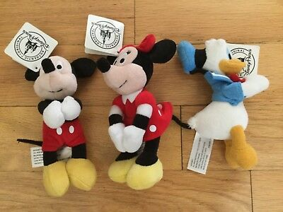 NWT Disney Mickey Minnie Mouse Donald Duck plush toys w/Magnetic Hands & Feet
