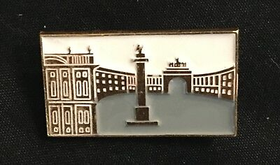 Vintage USSR Admiralty Building Saint Petersburg Russia Enameled Pin