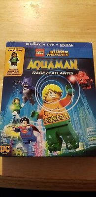 LEGO DC SuperHeroes: Aquaman Rage of Atlantis(Blu-ray and DVD disk) with case