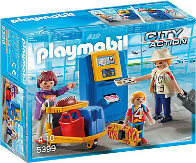 PLAYMOBIL® City Action 5399 Familie am Check-in Automat im Flughafen