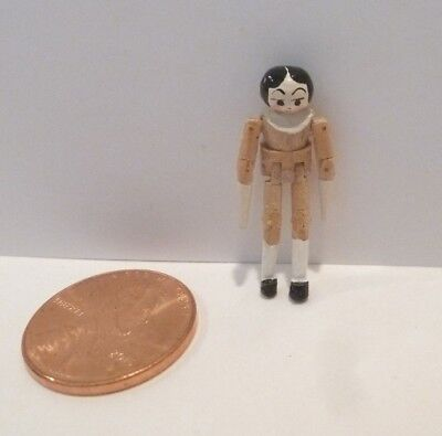 """Tiny Miniature Jointed Peg Doll  Made In The Uk And Dated 1994  Just 1"""" Tall"""