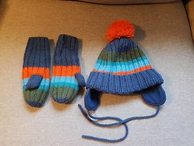 Woolly hat & mittens, Polarn O Pyret, 9months - 2 years