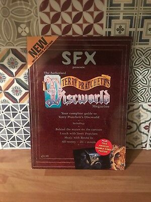 Sfx Discworld Magazine With Giant Poster. Rare Item! Complete Guide To Discworld