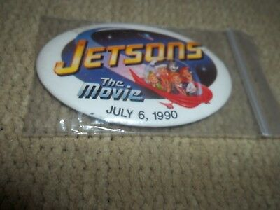 The Jetsons Cartoon Movie Collectors Button Pin  July 6, 1990