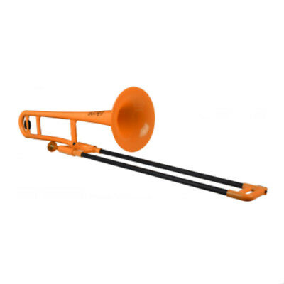 Jiggs pBone Student Model Plastic Trombone in Orange BRAND NEW