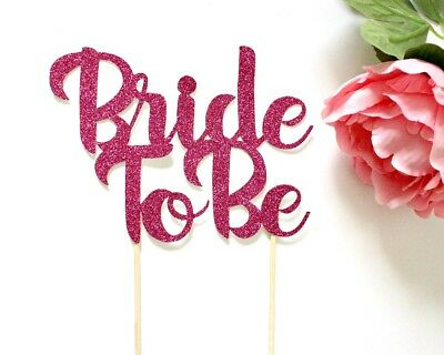 bride to be cake topper bridal shower decorations hen party gold pink gift decor