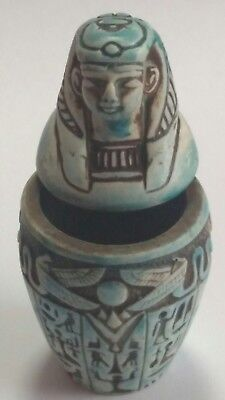 Canopic Jar Isis Goddess of Marriage, Wisdom Hand Carved Natural Stone 70mm 71gm