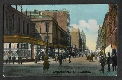 Postcard of Glasgow Sauchiehall Street Vintage Unused VGC .